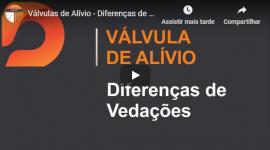 Válvula de Alívio – Diferenças de Vedações