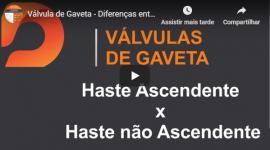 Válvula Gaveta – Haste Ascendente x Não Ascendente